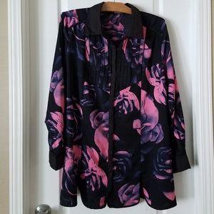 Denim 24/7 floral long sleeve blouse